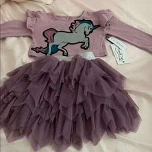 Unicorn 2 piece set toddler outfit